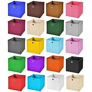 StickandShine 6er Set Schwarz Faltbox 28 x 28 x 28 cm Aufbewahrungsbox faltbar