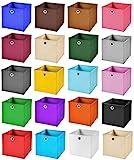 4er Set Schwarz Faltbox 28 x 28 x 28 cm Aufbewahrungsbox von StickandShine faltbar