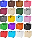 StickandShine 8er Set Dunkelgrau Faltbox 28 x 28 x 28 cm Aufbewahrungsbox Faltbar