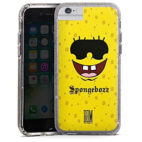 Apple iPhone 6s Plus Bumper Hülle Bumper Case Glitzer Hülle Spongebozz Bbm Fanartikel Merchandise Bumper Case Glitzer rose gold