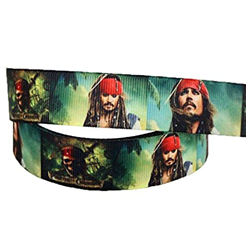 2m x 22mm PIRATES OF THE CARIBBEAN GROSGRAIN RIBBON FOR