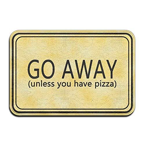 AORSTAR Eco-Friendly Go Away (Unless You Have Pizza) Cool 15.7 X 23.6 in Absorbent Anti Slip Floor Rug Carpet Door Mat - Low-profile-drain