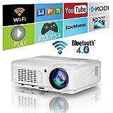 HD Wireless LED LCD projecteur 4200 lumens Android Bluetooth AirPlay Miracast WiFi multimédia Home Cinema video projecteur 1080p HDMI USB VGA AV...