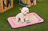 PLHF Casa del perro de la casa de perro de la seda del hielo del verano que refresca los productos del animal doméstico de la almohadilla del animal doméstico, Pink, l