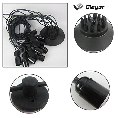 olayer Loft-Kronleuchter / Deckenleuchte / Pendelleuchte / Lampe mit Edisonsockel, Stil: Vintage, Industrial, Steampunk, schwarz, 8heads -