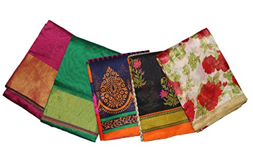 Fashioniests Combo Pack Of 5 Beautiful Art Silk Sarees
