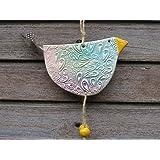 Keramik Huhn Vogel Gartendekoration