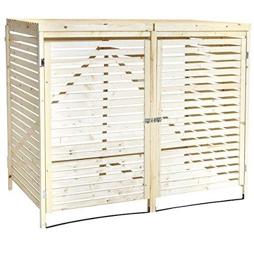 *Charles Bentley – Mülltonnen-Verkleidung aus natürlichem Fichtenholz – für 2 Tonnen*