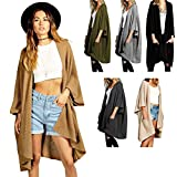 Red Olives® Womens Chunky Knitted Baggy Oversized Pocket Long Jumpers Cardigans Cape