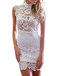E-Girl femme Blanc SY21727 Robe millésime