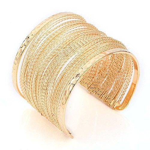 Guirui Jewelry Mode Damen Multilayer Armreif - Weit Offen Armreif Armband