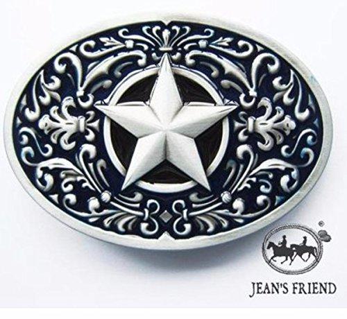 Kostüm Cowboy Lone - napolo Western Buckle Belt Cowboy gurtelschnallen New Lone Star schwarz Silber verziert