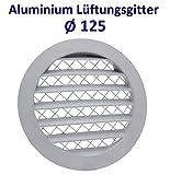 Grille d'aération ronde en aluminium avec filet anti-insectes. Grille en aluminium.