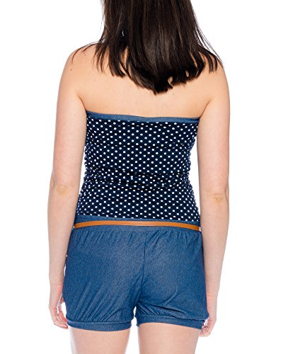 Kendindza Collection - Combinaison - Femme Punkte Navyblau
