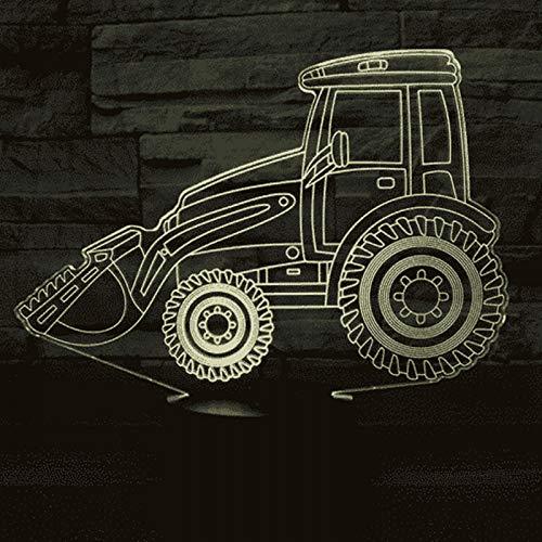 Ydbdb Couleur La Excavation Du D'usb Bulldozer 3d Pour Tracteur De 7 Table Véhicule Lampe Visuelle Machines Nuit Menée v80Nmnw