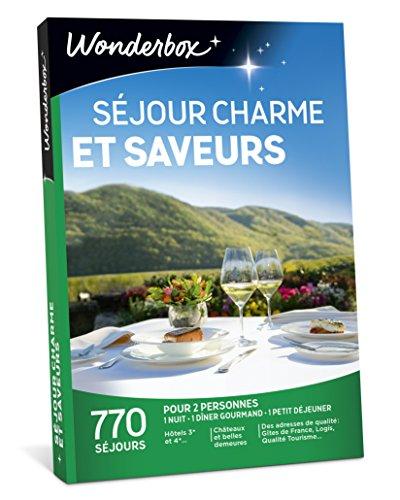 Wonderbox - Coffret cadeau couple - SÉJOUR CHARME ET SAVEURS - 770 séjours...