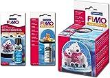 Staedtler FIMO® Schneekugel-Set (Schnee + Wasserklar + Kugel rund)