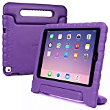 iPad Air 2 kids case, COOPER DYNAMO Rugged Heavy Duty Children's Boys Girls Tough Rubber Drop Proof Protective Carry Case Cover + Handle, Stand & Screen Protector for Apple iPad Air 2 Purple
