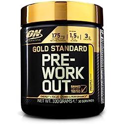"""Optimum Nutrition Suplemento Dietético en Polvo """"Gold Standard Pre-Workout Pre-Entreno"""", Sabor Piña - 330 g"""