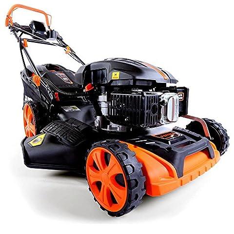 FUXTEC Benzin Rasenmäher FX-RM2060eS mit 51 cm und E-Start einstufiges GT-Getriebe Motor Elektro Start gewählt zum