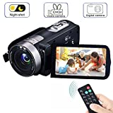 Digital Video Camcorder, VPRAWLS 24.0 Mega Pixel 16X Zoom Portable Mini Hand Video Videorecorder mit IR Nachtsicht Full HD 1080P Max. DV 3