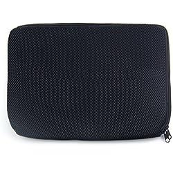 ACEKART™ Zipper 15.6-inch Laptop Sleeve for Apple, Dell, Lenovo, HP, Acer, Asus, Samsung Laptops - Black