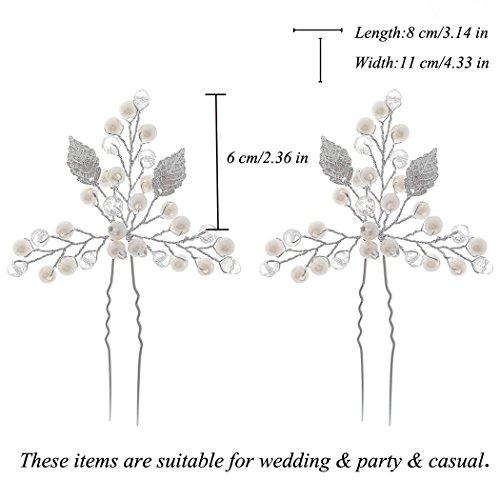 Aukmla Haarnadeln für Frauen auf Hochzeit Party oder im Alltag (2 Stück) - 3