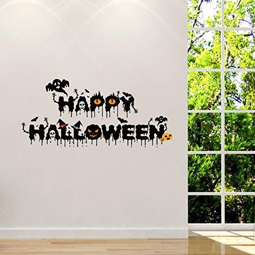 (INOVEY Schrecklich Hallowen Glasfenster Dekor Wandaufkleber Party Haus Dekoration Kreativ Dekorieren)