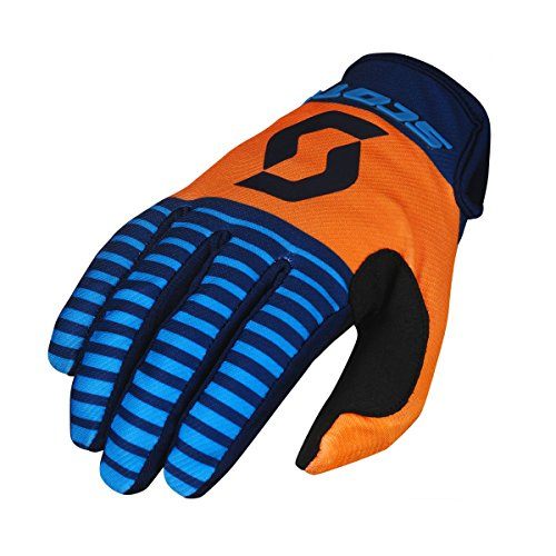Scott 350 Track Kinder MX Motocross/DH Fahrrad Handschuhe blau/orange/schwarz 2017: Größe: XS ()