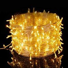 Idea Regalo - Elegear Luci Natale Esterno 100M 500 LEDs Impermeabile Catena Luminosa LED Natale Decorazioni per Camere da Letto Giardino Feste Matrimonio