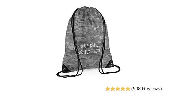 ccbada0f589f MYOG © Personalised Premium Drawstring Bag PE Gym Kit School PE Kids Sport  Rucksack (22 Colours)