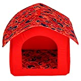 Jainsons Dog House Hut Red (Foldable/Detachable) (Medium)