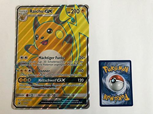 übergroße holografische Karte RAICHU GX SM90 210KP (Pokemon Karten Original-set)