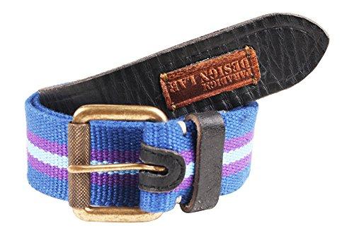 Paradigm Design Lab Men's Cotton Web Belts (KRSNA-MBL-30023, Multi-Coloured, 34)
