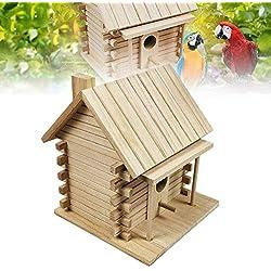 Stylelove Maison d'oiseau à Suspendre en Bois pour Le Jardin | Décorations de Jardin de nichoir d'oiseaux nouveauté Unique | Cabine d'hôtel Bird pour Oiseaux Sauvages