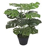 Leaf Plante Artificielle en Pot Noir 60 cm Monstera