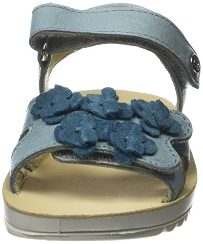 Naturino Naturino 6651, Sandales  Bout ouvert fille Bleu - Blau (Hellblau)