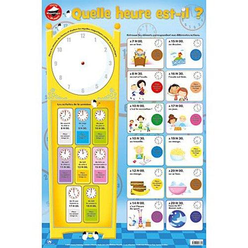 Posters magnétiques : Quelle heure est-il ?