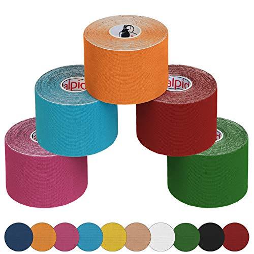 la plus récente technologie prix officiel site officiel ALPIDEX 5 Rollos Kinesiologytape 5 m x 5,0 cm Kinesiologytape en 11 Colores  Quinesiología Cinta Elástica Banda Fisioterapia, Color:Mixt