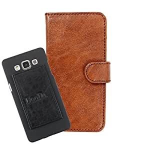 DooDa PU Leather Wallet Flip Case Cover With Card & ID Slots For Spice Stellar Horizon (Mi-500) - Back Cover Not Included Peel And Paste