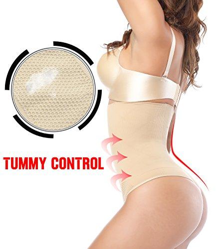 SEXYWG Perizomi Alta Vita string e tanga Butt lifter Intimo Culotte Push Up Glutei Shapewear Beige