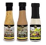 Slender Chef Sauce, Fettfrei und Zuckerfrei - versch. Salatsaucen (Garlic & Herb; 1000 Island; Ceaser Dressing)