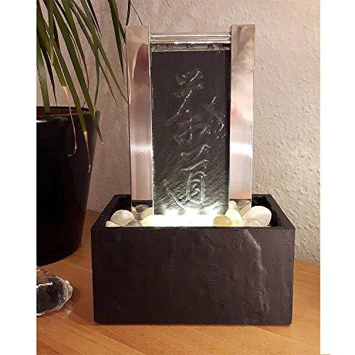 KÖHKO® Tischbrunnen Teezeremonie 25009 Luftbefeuchter mit LED-Beleuchtung