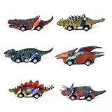 GZMY Spielzeug für 3-9 Jährige Jungen, Zurückziehen Dinosaurier Autos für Jungen Geburtstagsgeschenk Spielzeugauto für Kinder Alter 3-9 Spielzeug für Kleinkinder Kleinkinder 6er Pack