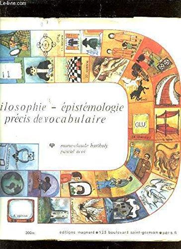 PHILOSOPHIE EPISTEMOLOGIE PRECIS DE VOCABULAIRE / COLLECTIN