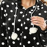 einteiliger Schlafanzug für Damen aus Fleece ohne Fuß, bunter Einteiler, Overall