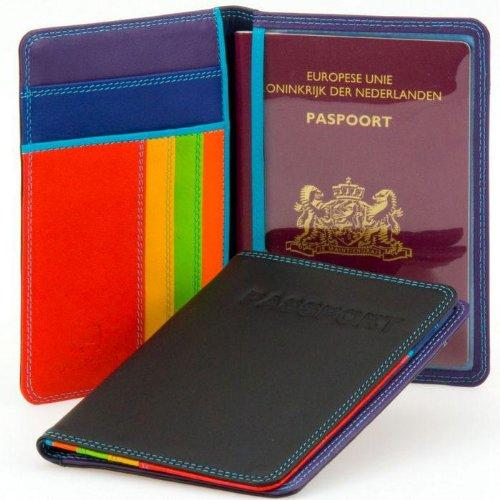 mywalit Passport Cover Passetui Leder 14 cm Multicolore