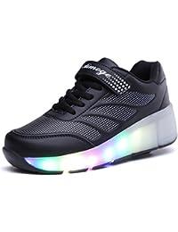 Zapatillas de skate luces LED unisex
