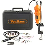 VonHaus 135W Rotary Multi Tool with Stand, Flexi-shaft and 40pc Accessory Kit- DREMEL
