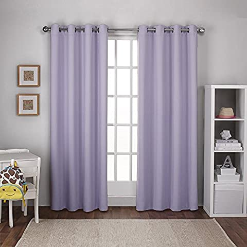 Exclusive Home Curtains Textured Woven Blackout Grommet Top Window Curtain
